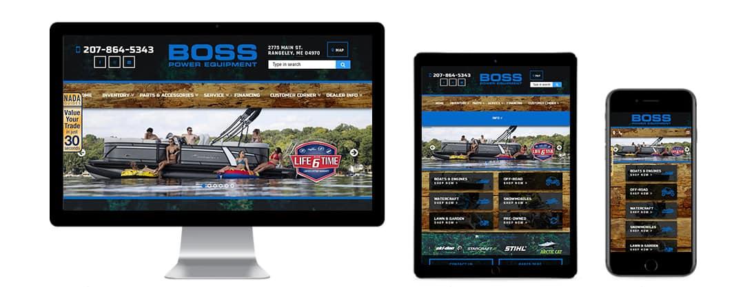 Boss Power Equipment website