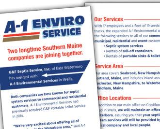 A-1 Environmental Services Rack Card